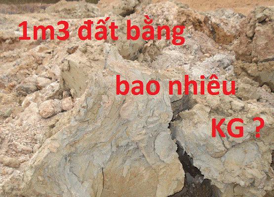 1m3 đất bằng bao nhiêu kg
