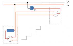 mạch điện cầu thang