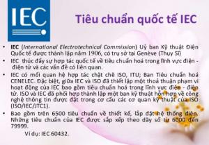 thiết kế lắp đặt điện theo tiêu chuẩn quốc tế iec