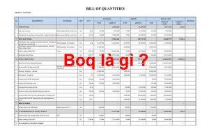 Boq là gì ?