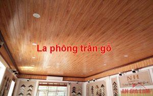 la phông trần gỗ