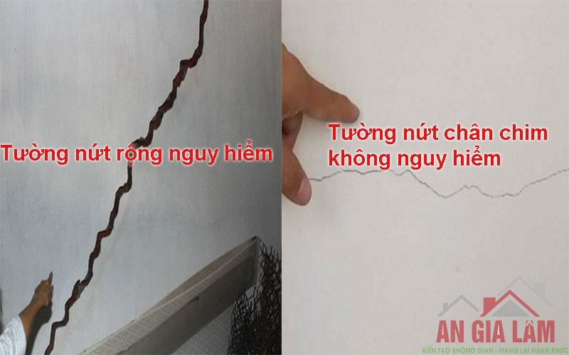 tường nứt gây nguy hiểm