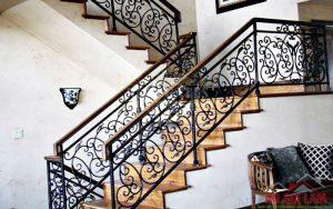 mẫu cầu thang hoa sắt cổ điển