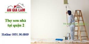Thợ sơn nhà tại quận 2
